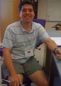 Dr. Wolyniak in the lab
