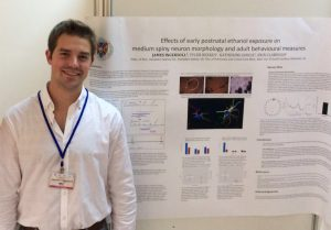 Jamie Ingersoll presents his work at the International Behavioural Neural Genetics Society Annual Meeting in Madrid