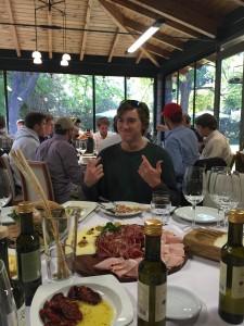 At the Zucardi Restaurant