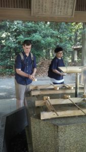 Meijijingu Shrine- purifying my hands before entering.