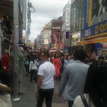 The busy street in Harajuku.