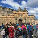 The entrance to Endinburgh Castle.