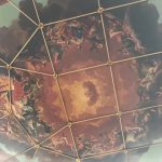 The ceiling of the Sheldonian Theatre where all Oxford students graduate.