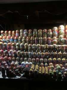 Display of Russian Nesting Dolls