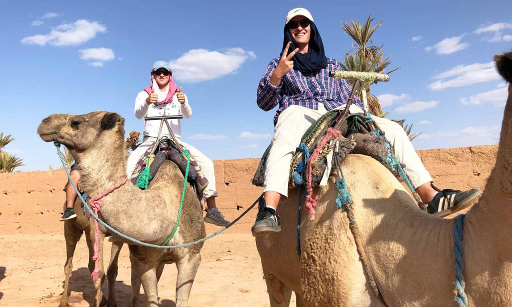 Will Driskoll camel riding