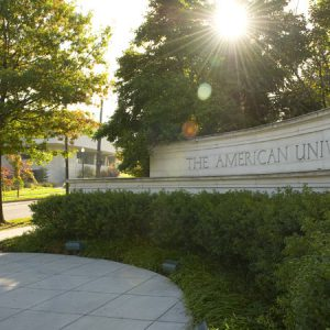 Campus picture from American University webpage.