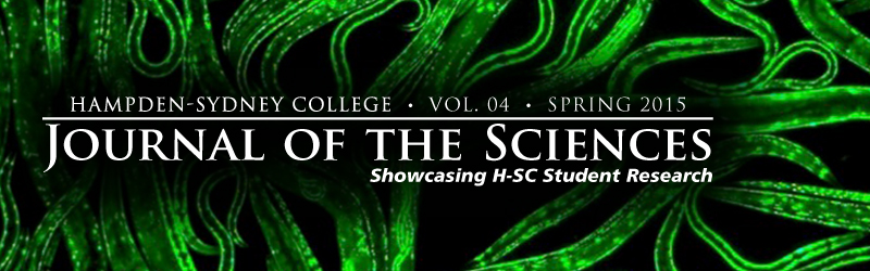 Journal of the Sciences masthead 2015