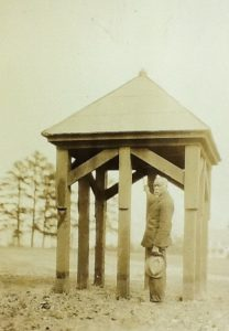 Stokes Brown rings the bell in the old bell tower. Read about his family here.