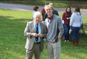 Ian Fitzgerald '22 with Professor Pontuso